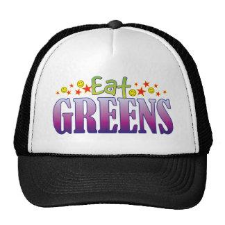 Los verdes comen gorros bordados