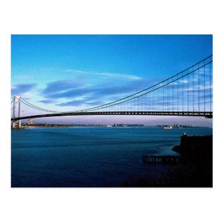 Los Verrazano-Estrechos tienden un puente sobre, Tarjeta Postal