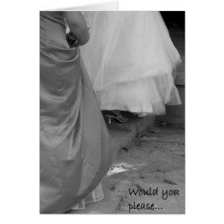 Los vestidos elegantes sean por favor tarjeta de