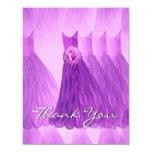 Los vestidos púrpuras de la dama de honor le invitación 10,8 x 13,9 cm