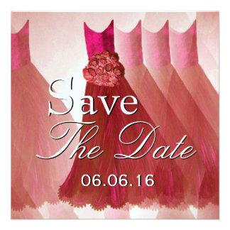 Los vestidos ROJOS elegantes ahorran la invitación