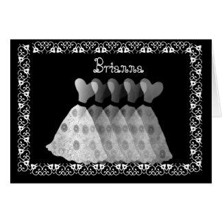 Los vestidos y el cordón DE PLATA - sea mi dama de Tarjeta De Felicitación