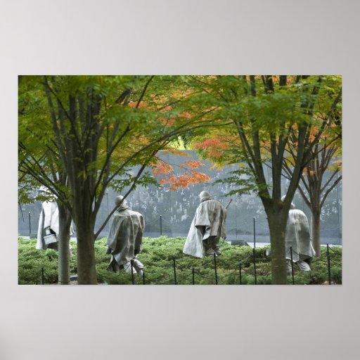 Los veteranos de Guerra de Corea conmemorativos Posters
