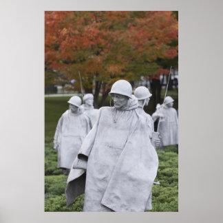 Los veteranos de Guerra de Corea conmemorativos Póster