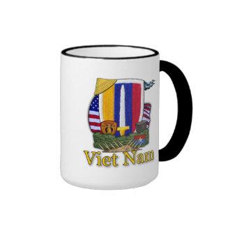 los veteranos del remiendo de la guerra de Vietnam Taza