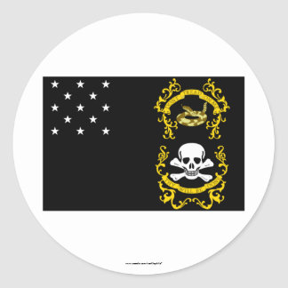 Los veteranos eximen la bandera pegatina redonda