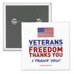 Los veteranos, libertad le agradecen pin