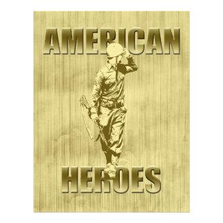 Los veteranos son héroes americanos membrete a diseño