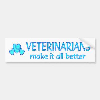Los veterinarios lo hacen mejor pegatina para auto