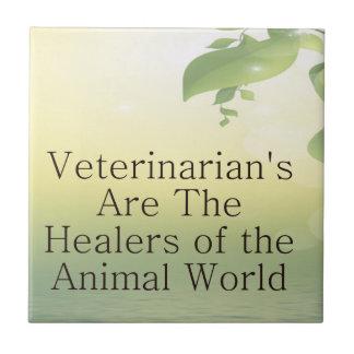 Los veterinarios son curadores azulejo cuadrado pequeño