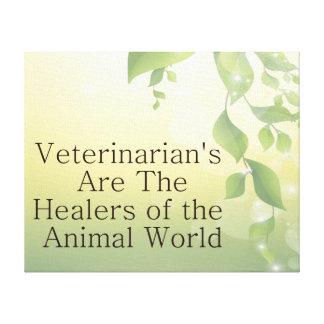 Los veterinarios son curadores lona estirada galerías