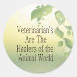 Los veterinarios son curadores pegatina redonda