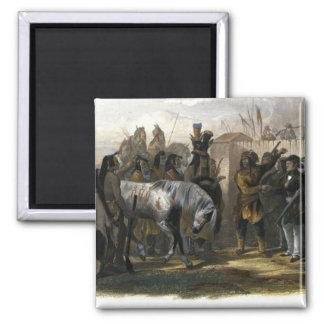Los viajeros que encuentran con a los indios de Mi Iman Para Frigorífico