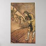 Los viajes de Gulliver del vintage de Arturo Rackh Poster