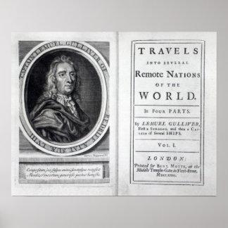 "Los ""viajes de Gulliver"" por Jonathan Swift, 1726 Póster"