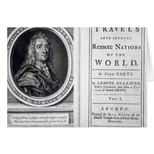 """Los """"viajes de Gulliver"""" por Jonathan Swift, 1726 Felicitaciones"""