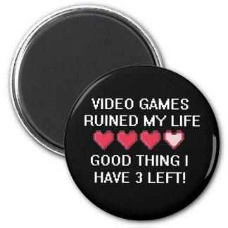 Los videojuegos arruinaron mi estilo de vida 1 imán redondo 5 cm