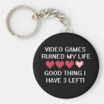 Los videojuegos arruinaron mi estilo de vida 1 llaveros personalizados