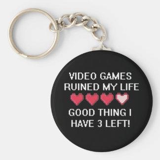 Los videojuegos arruinaron mi estilo de vida 1 llavero redondo tipo pin