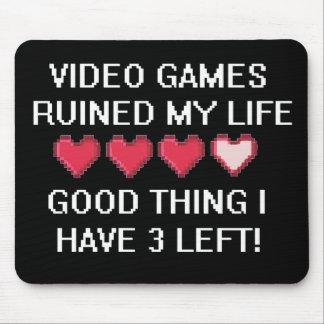 Los videojuegos arruinaron mi estilo de vida 1 tapete de raton