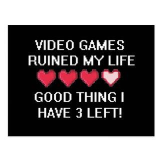 Los videojuegos arruinaron mi estilo de vida 1 postales