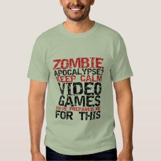 Los videojugadores de la apocalipsis del zombi playeras
