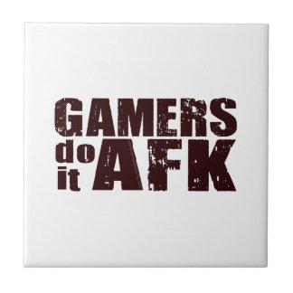 Los videojugadores lo hacen AFK Azulejo Cuadrado Pequeño