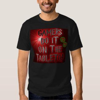 Los videojugadores lo hacen en la camiseta tablero remeras
