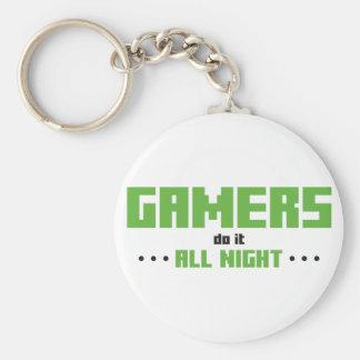 Los videojugadores lo hacen toda la noche llavero personalizado