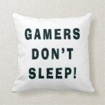 Los videojugadores no duermen cojines