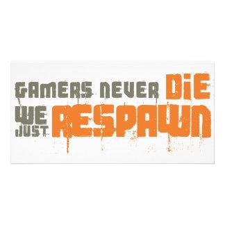 Los videojugadores nunca mueren nosotros apenas Re Tarjeta Fotografica