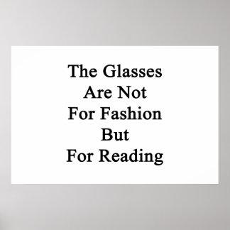 Los vidrios están no para la moda sino para leer póster