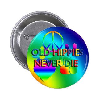 Los viejos hippies nunca mueren botón