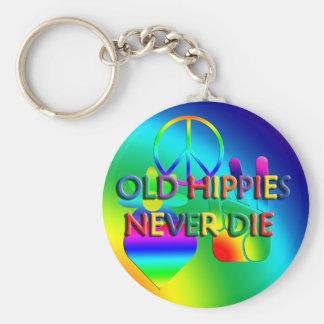 Los viejos hippies nunca mueren llavero