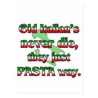 Los viejos italianos nunca mueren tarjeta postal