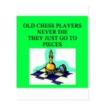 los viejos jugadores de ajedrez nunca mueren tarjetas postales