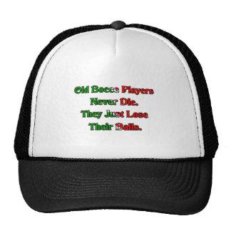 Los viejos jugadores de la bola de Bocce nunca mue Gorra