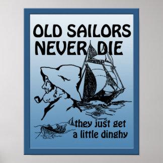 Los viejos marineros nunca mueren poster divertido