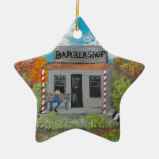 Los viejos tiempos no se olvidan adorno navideño de cerámica en forma de estrella