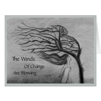 Los vientos del cambio - interior del espacio en tarjeta de felicitación grande