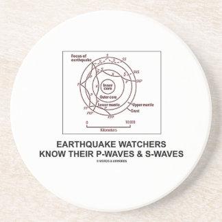 Los vigilantes del terremoto saben sus S-Ondas de  Posavasos Para Bebidas