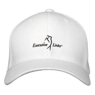 Los vínculos ejecutivos blancos cupieron el gorra gorra bordada