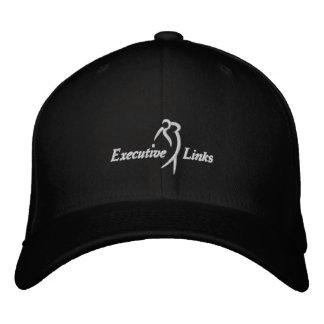 Los vínculos ejecutivos negros cupieron el gorra gorra bordada