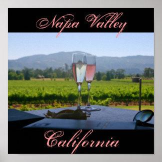 Los viñedos de Napa Valley Póster