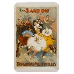 Los vodeviles de Sandow Trocadero, poster 1894 Imán Rectangular