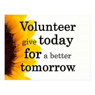 Los voluntarios dan hoy para un mejor mañana postales