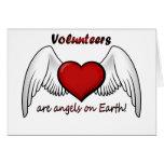 Los voluntarios del ángel le agradecen cardar tarjeton