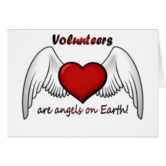 Los voluntarios del ángel le agradecen cardar tarjeta de felicitación