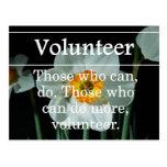 Los voluntarios hacen más para otros postales