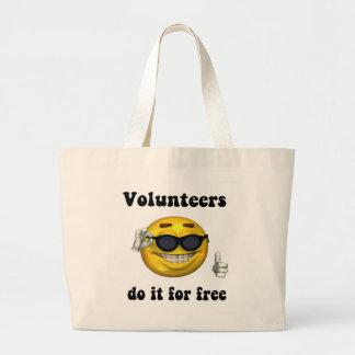 Los voluntarios lo hacen gratis bolsa